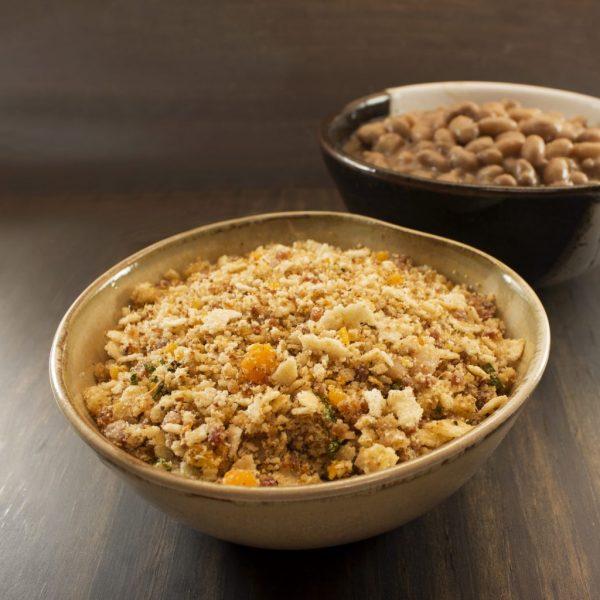 bowl com farofa de soja texturizada